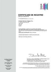Certificado Seguridad Alimentaria Cristian ServicioIntegral 2018